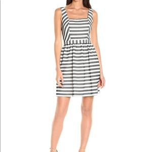 Trina Turk Black and White Striped Dress